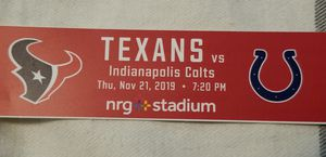 Texans vs Colts tailgating tickets 11/21 @ 7:20pm for Sale in Houston, TX
