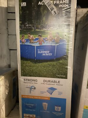 Summer Waves 10ft X 30in Active Metal Frame Pool w/ Filter Pump New Sealed for Sale in Bayonne, NJ