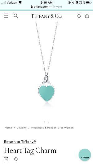 Authentic Tiffany & co. blue enamel heart tag necklace for Sale in Hacienda Heights, CA