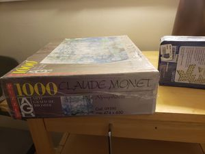 Brand new 1000 piece CLAUDE Monet puzzle. Brought from Amsterdam. Fine art museum. New Domino Game. for Sale in Boxborough, MA