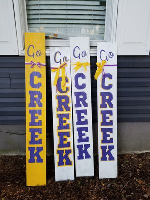 4 go creek signs $20 each about 6 ft tall for Sale in Chesapeake, VA