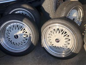 17s 5 lug Universal STR racing rims and tires for Sale in Killeen, TX