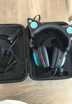 cat ear headphones and speaker for Sale in Coronado, CA