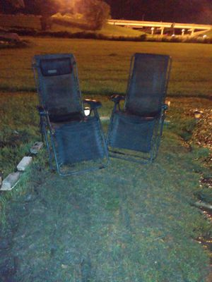 Black cabela lounge chairs they lock for Sale in Prairieville, LA