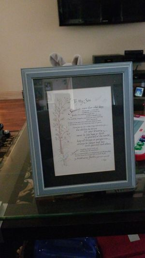 To my son picture frame for Sale in Egg Harbor City, NJ