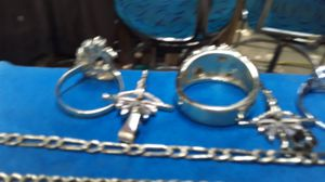 14 karot white gold ring,&necklaces charms for Sale in Pico Rivera, CA