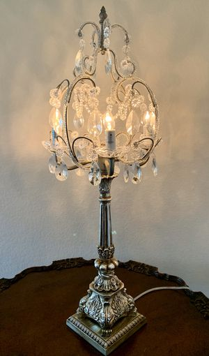Exquisite Crystal Chandelier Table Lamp for Sale in San Diego, CA