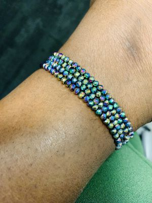 Authentic African crystal beads anklet, comes in different colors. for Sale in Vienna, VA