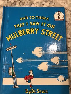 And to think that I saw it on Mulberry Street by Dr. Seuss for Sale in Orange,  CA