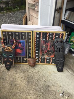 Aztec type pictures and masks for Sale in Vancouver,  WA