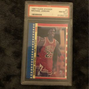 1987 #2/11 FLEER STICKER MJ CARD for Sale in Pompano Beach, FL