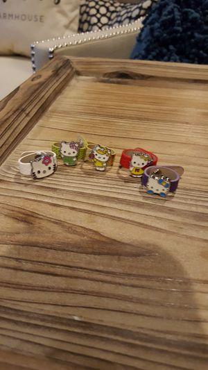 Hello Kitty adjustable rings for Sale in Allen Park, MI