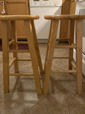 2 maple wood Bar stools for kitchen island for Sale in Marysville, WA