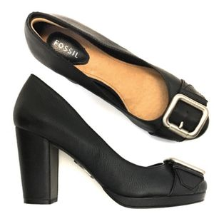 Fossil | Maddox Leather Toe Buckle Block Heels- SZ 8.5 for Sale in Las Vegas, NV