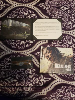 Last of us part 2 art book, Dina's bracelet, and thank you note. for Sale in Fults, IL