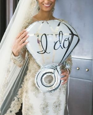 *FIRM * I do silver ring balloon bachelorette wedding for Sale in Rancho Cucamonga, CA