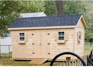 New 8' x 16' Pine Chateau Shed with Lofts and Workbench for Sale in Rehoboth, MA
