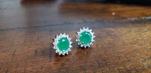White gold over earrings for Sale in Houston, TX