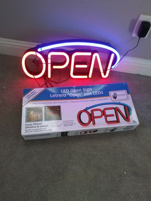 Open Sign for Sale in Fresno, CA