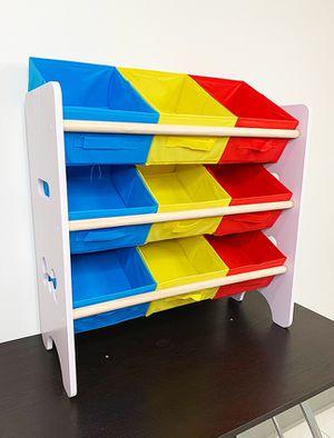 "New in box $20 Small Kids Toy Storage Organizer Box Shelf Rack Bedroom w/ 9 Removeable Bin 24""x10""x24"" for Sale in Pico Rivera, CA"