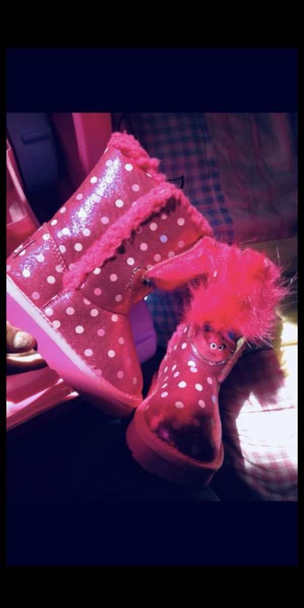 Girl Toddler pink troll boots