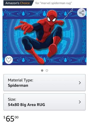 spiderman area rug - Marvel licensed for Sale in Lakewood, WA