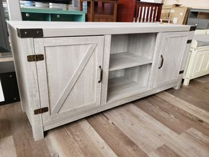 "NEW Stone Grey Barn Door Media TV Stand: Up to 65"" TV for Sale in Burlington, NJ"