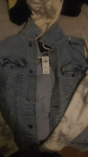 Hollister jeans jacket hoodie for Sale in New Haven, CT