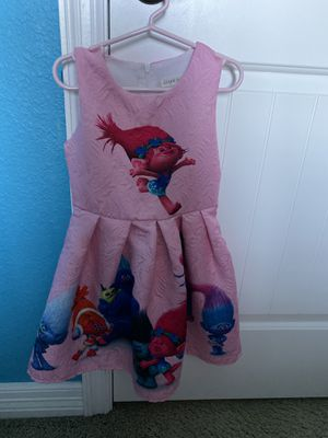 Trolls dress size 4 toddler girl for Sale in Helotes, TX