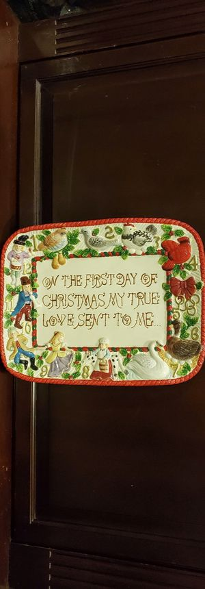 Christmas platter collectible for Sale in Davie, FL