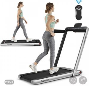 2-in-1 Electric Motorized Health and Fitness Folding Treadmill with Dual Display and Bluetooth Speaker for Sale in San Diego, CA