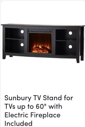 """Tv stand with electric fireplace 60"""" for Sale in Norwalk, CA"""