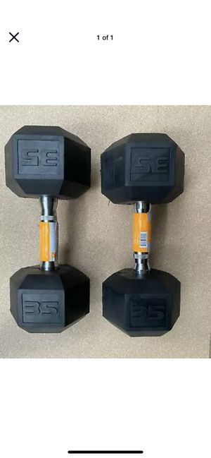 30lb 25lb 15lb weight dumbbell sets for Sale in Queen Creek, AZ