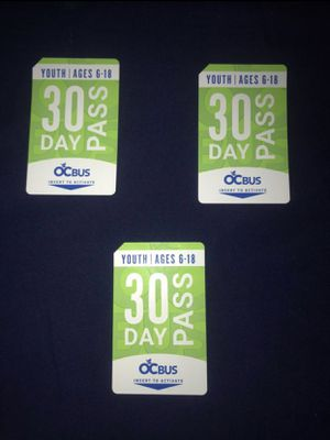OCTA bus pass for Sale in Santa Ana, CA