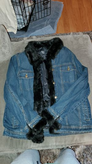 Dennis Basso Deniem Fur Jacket for Sale in Folsom, CA