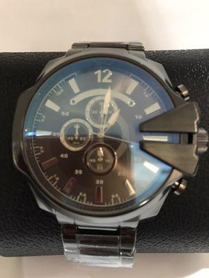 Brand new men's metal watch gunmetal black for Sale in Orange, CA