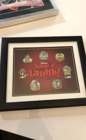 Disney have a laugh framed pin set for Sale in Las Vegas, NV