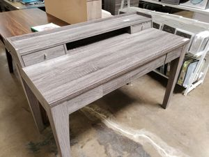 Office Desk, Distressed Grey, #172062 for Sale in Downey, CA