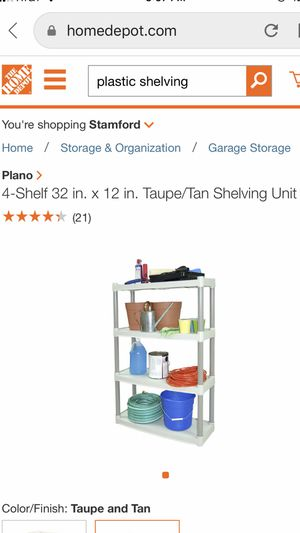 Plastic Shelving for Sale in Wallingford, CT