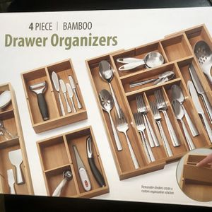 Seville Bamboo Drawer Organizer 4pcs for Sale in Passaic, NJ