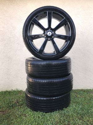 Silver and Black 24 inch Rims with Accelera All Season Tires for Sale in West Palm Beach, FL