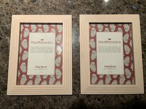 Set of Two New Vintage Solid Wood 5x7 Frames by Philip Whitney LTD for Sale in Scottsdale, AZ