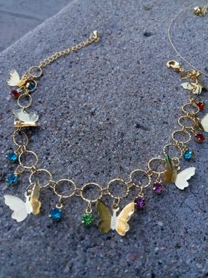 "Gold ankle bracelet $15 ""butterflies"" for Sale in San Diego, CA"