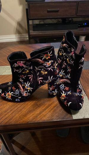 Lilian size 10 high heel booties for Sale in Abilene, TX