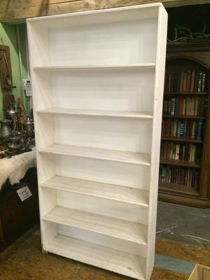 Tall white wood bookcase for Sale in San Diego, CA