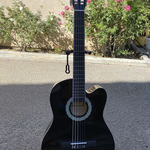 black fever classic acoustic guitar for Sale in Downey, CA
