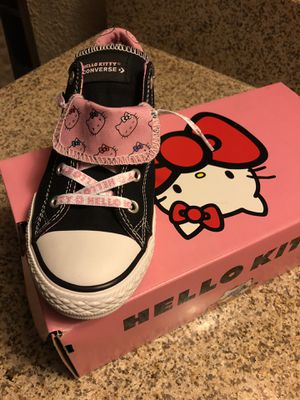 Hello kitty tennis converse size 4 new never used no delivery or ship 25 dls firm on the price I pay 50 dls for Sale in Chino, CA