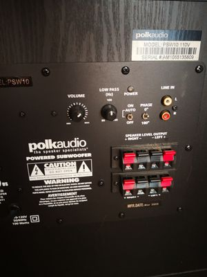 "Polk audio 10"" powered sub for Sale in Chesterfield, VA"