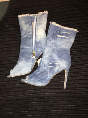 Jean High Heel Boots for Sale in Benbrook, TX