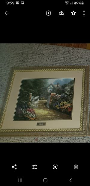 "Thomas Kinkade ""HIDDEN COTTAGE"" Print Library Edition Picture Home Interiors !! for Sale in Marion, IL"
